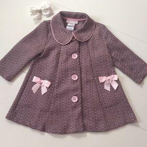 Bonnie Baby • VGUC Pink Tweed Jacket